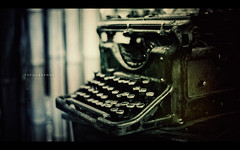 Typographer (isayx3) Tags: white black typewriter vintage 50mm nikon disneyland disney retro treehouse f18 tarzan d3 adventureland fifty nifty typographer 50mmf18af tarzans