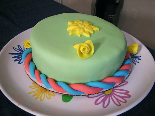 Fondant Cake - Part of the Beginning