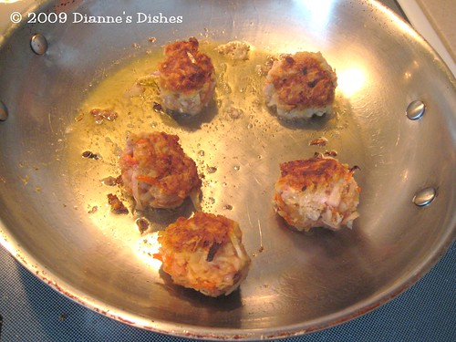 Swedish Meatball With A Twist: Browning
