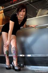 IMG_7176 (Venessa Nina) Tags: hello flowers woman hot cute sexy girl tattoo ink photography skull model industrial dress cupcake nina alison murphy inked tats heals kity venessa fivefootmohawk venessaninaphotography