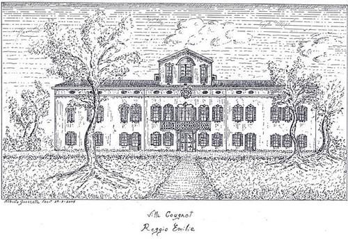 Villa Cougnet (disegno di Alberto Guerretta)