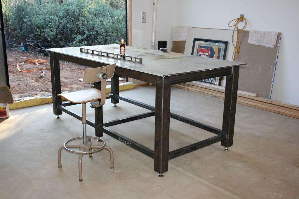 Welding Table Designs another welding table workbench thread the garage journal board Avoid Metal Warping On Shop Table Top And Legs Pirate4x4com 4x4 And Off Road Forum