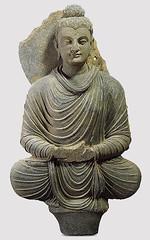 Afghanistan, Gandhara - 2nd - 3rd cent. Buddha (gray schist) (RasMarley) Tags: afghanistan stone figure realism 2ndcentury schist gandhara 3rdcentury
