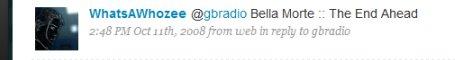 Twitter radio request