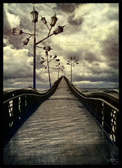 Tomorrow (Ana Correal) Tags: bridge light texture textura luz clouds digital photomanipulation postes dark de puente ana colombia day image walk bogot lagoon massive transportation nubes laguna eternity imagen transporte fotomanipulacin transmilenio neusa masivo correal anacorreal porbogota porbogot