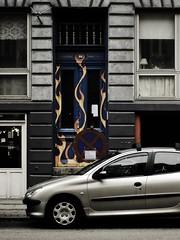flames (Ben Locke) Tags: door march flames streetphotography vesterbro 2009