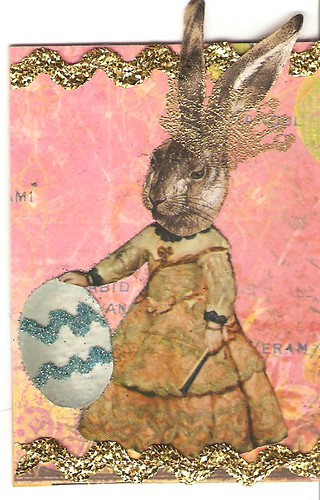 Bunny ATC for Faerie Zine Swap