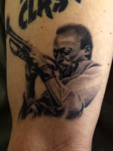 My Miles Davis tattoo, perfectly inked by Stewart @ Angelic Hell,