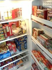 Office fridge (Left Coast Girlie) Tags: cameraphone food freezer groceries gefrierschrank congélateur tiefkühlschrank zamrzivač fagyasztószekrény