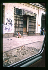 Hammer and Sickle - IN 1987 Car1-053 (Eric.Parker) Tags: street india 1987 slide scan beggar kolkata bengal calcutta hammerandsickle westbengal scannedfromslide