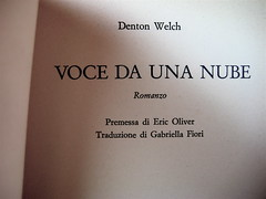 Denton Welch : Bibliografia (testi tradotti in italiano, 1948 – 2006)