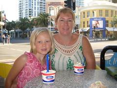 Enjoying Cold Rock Ice cream
