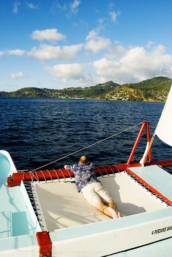 zane on boat
