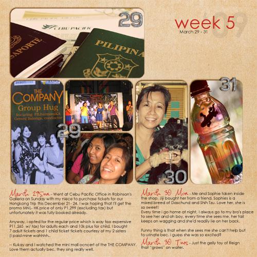March: Week 5