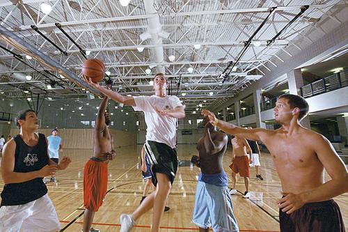 KU basketball courts at rec center