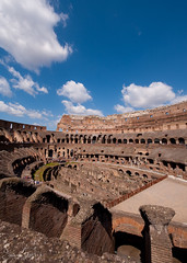 Colosseum Interior Vertical (Sean Molin Photography) Tags: city rome roma heritage scale beautiful soldier fight european roman circus landmark colosseum arena huge coliseum epic colossal emperor gladiator colosseo wonderoftheworld colise vacationeuropeitalyrome2009marchvacationitalli vacationeuropeitalyrome2009marchvacationitallian seanmolin wwwseanmolincom
