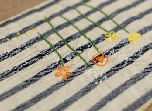 Spring flowers mini quilt