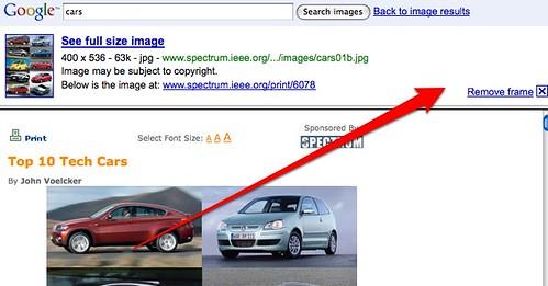 Google Images & Framing
