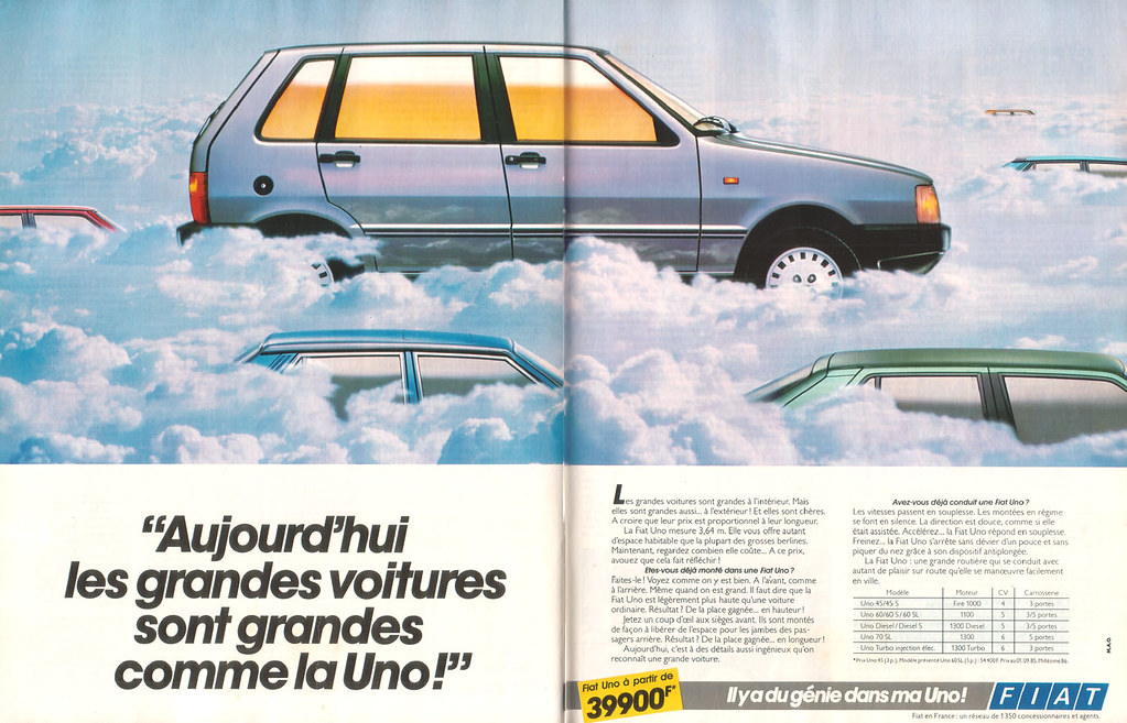 Publicité Advertising 1990 Fiat Tipo 2 Pages