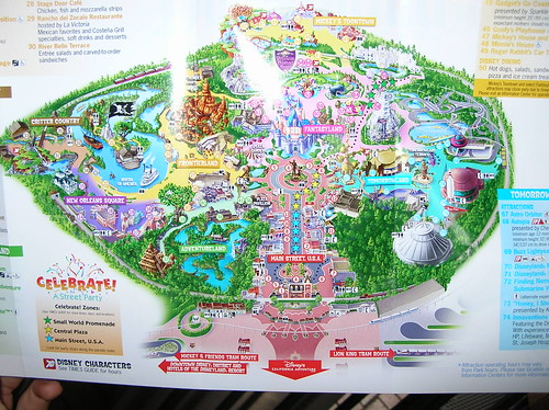 Disneyland Map California