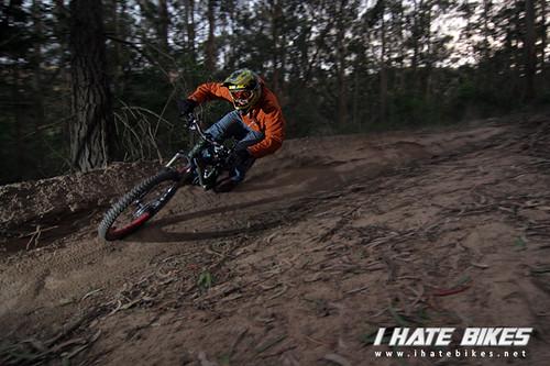 Luke rails a turn on the Boyscout Trail. Photo: Jason Van Horn