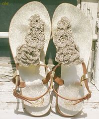 gold sandals (8) (creationsbyeve) Tags: flowers fashion gold europe felting handmade sandals crafts crochet felt greece homemade handcrafted etsy artisan crafting handmadegifts handcraftedgifts europeanstreetteam creationsbyeve etsygreekteam