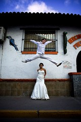 the mexican affair (kolored) Tags: wedding mexico groom bride air jumpman kolored