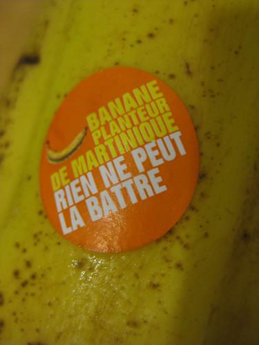 La banane de la martinique rien ne peut la battre.
