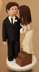 Bride and Groom Topper 2 (Rouvelee's Creations) Tags: cake weddingcake polymerclay topper brideandgroom weddingcaketopper rouvelee