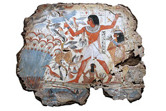 Nebamun Hunting in the Marshes. ( Libyan Soup) Tags: fish birds cat painting boat hunting egypt butterflies egyptian hunter egipto britishmuseum fresco gypten egitto hunt egypte egypten ancientegypt marshes fragments wallpaintings egiptus egipt egyptianart gypte nebamun egypti  tombart tombpainting egyptianpainting egiptio egiptujo michaelcohengallery nebamunwallpaintings tombchapel tombchapelofnebamun