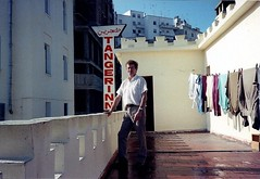 Tangiers - A Guest at the Muniria Hotel and Tangerinn Bar, 1980s (ronramstew) Tags: hotel terrace burroughs morocco maroc beat guest 1980s kerouac marruecos tangier marokko beats tanger tangiers firstfloor tanja williamburroughs muniria tangerinn tangerinnbar muniriahotel