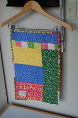 DQS6, Back (Tiny House) Tags: pink green bird quilt denyseschmidt dollquilt fleamarketfancy joeldewberry aviaryfleamarketfancy