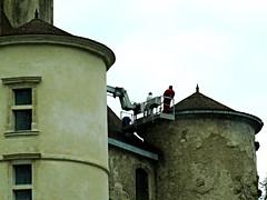 Peyrehorade (40), le château fait peau neuve. (Marie-Hélène Cingal) Tags: france southwest 40 landes sudouest aquitaine peyrehorade paysdorthe yourcountry