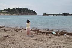 久しぶりの海。萌は萌の満喫の仕方