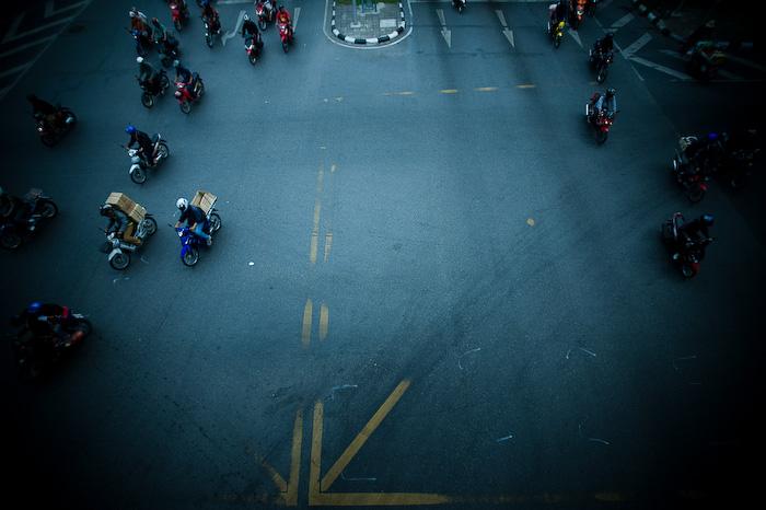 Bangkok traffic style