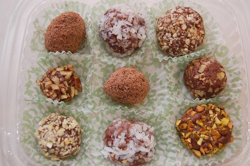 mixed chocolate truffles