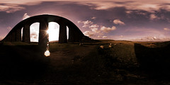 Ribblehead Viaduct (alex) Tags: england sky panorama clouds sheep arches handheld express 360x180 yorkshiredales spiv 360degrees penyghent ribbleheadviaduct stitcher equirectangular riverribble settlecarlislerailway johnsydneycrossley