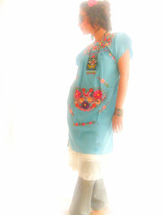 Mexican turquoise embroidered dress (Aida Coronado Galeria) Tags: travel woman mexico clothing spain folkart handmade embroidery ooak traditional blouse clothes mexican exotic online oaxaca buy hippie ethnic bohemia embroidered find mexicano vestido indigenous huichol bordado mexicantextiles vestidobordado aidacoronado mexicodress chentenas dressesaidacoronadodresses mexicoembroidereddress vestidobordado folkart