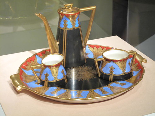 Gorgeous Viennese Art Deco Coffee/Chocolate Set at the Chicago Art Institute