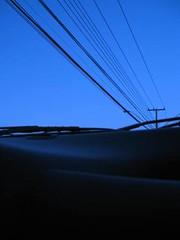 Lines on blue