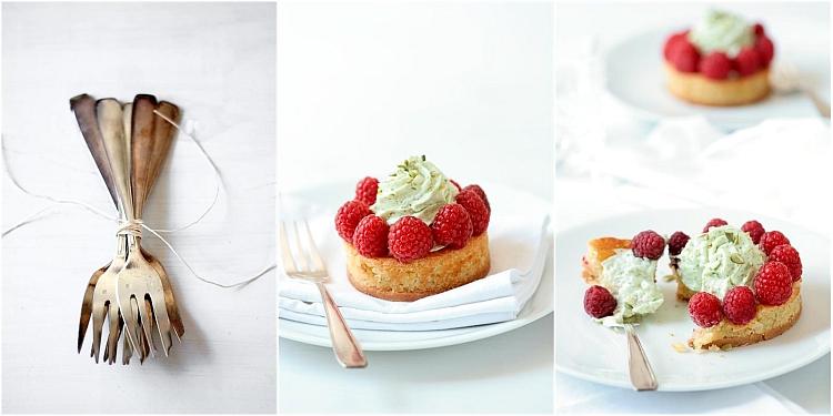 Pumpkin Seed Mousse & Raspberry Tartelette