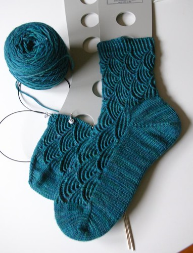 Pomatomus sock 2 in progress