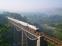 Westbound Argo Gede Train passing Cikurutug Bridge (chris railway) Tags: railroad bridge station train indonesia tren eisenbahn railway zug locomotive bandung trem bahn treno ka spoor ferrocarriles treinen ferrocarril ferrovia gleis treni jembatan spoorweg  ferroviaria   chemindefer  cipularang pocig   ferroviria  gambir  demiryolu padalarang argogede keretaapi ferroviarie cc203 trainphotography  ngst pegunungan jalantol  cc204 cilame  tuho    rseauferroviaire perbukitan oto cikurutug  eisenbahnzgen ngperokaril   kolejowych ferrovipathe ferrovira fotografiaferrovira