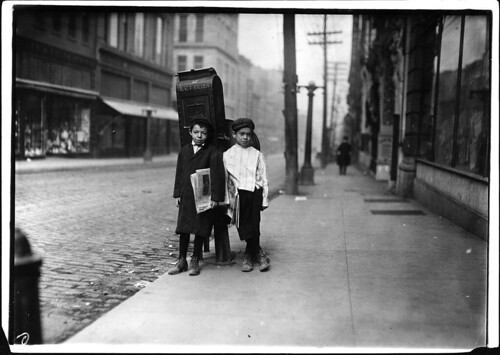 Two 7 Year Old Newsies, Profane and Smart, Selling Sunday in Nashville, Tennessee