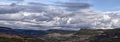 Millau 17-07-09-8522-3 (sweenpole2001) Tags: city sky autostitch cloud holiday france green field clouds town pano fields millau drass