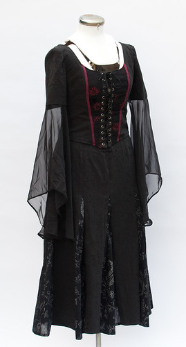 Goth Corset and Skirt - Front
