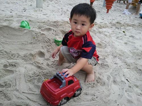 Sand toddler