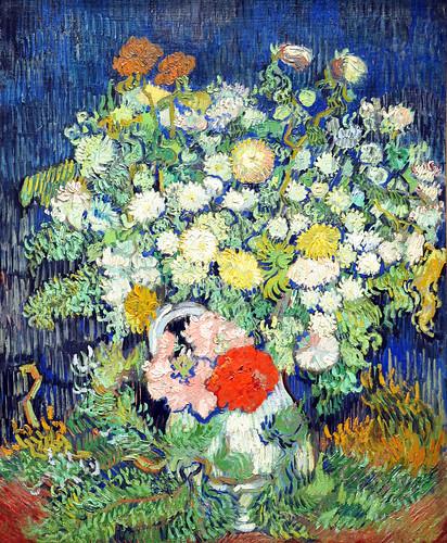 flowers in vase van gogh. Bouquet of Flowers in a Vase