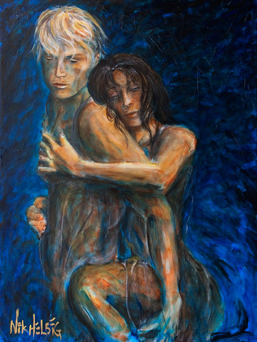 Painting -Lovers Slow Dancing Tango