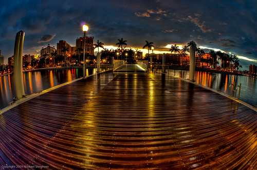 Fisheye view of the new docks